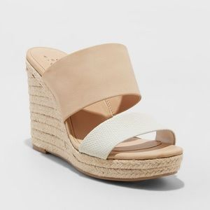Worn Once Wedge Heel Slide Sandals Espadrille